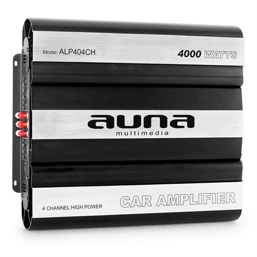 Auna Ampli Compact Voiture 4 Canaux Mosfet 4000W Max