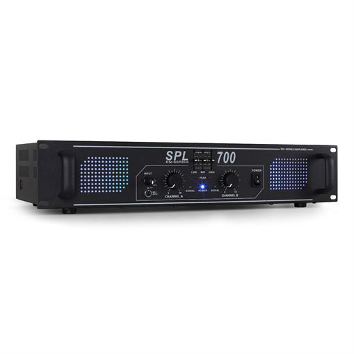 Skytec SPL700 Ampli DJ PA Audio LED 2000W EQ Rack 48cm 2U