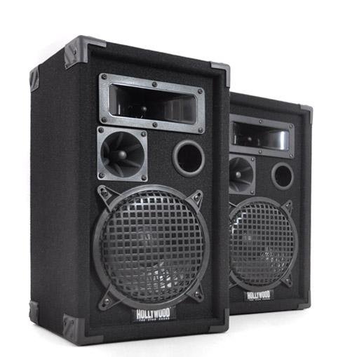 Paire d´Enceintes Passives PA Hollywood DJ-pro-8 600W 20CM