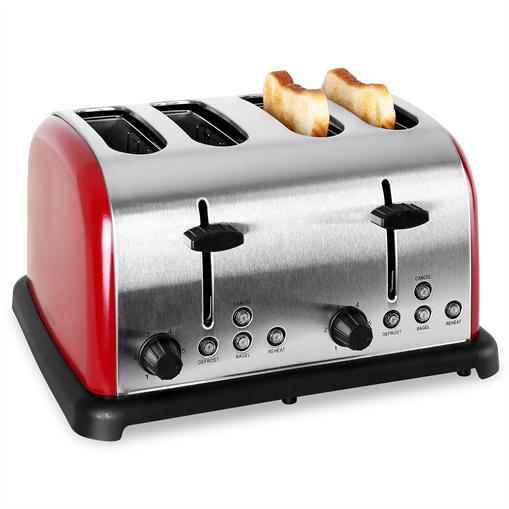 Grille Pain toaster klarstein 4 tranches inox 1650W