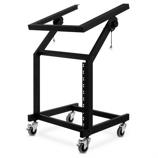 Auna Rack Stand 48cm (19'') 21U inclinable avec roulettes