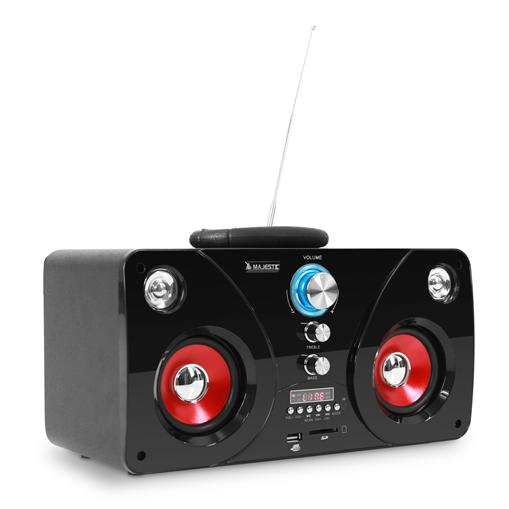 Radio portative compacte compatible MP3 USB et SD, Radio Tuner FM et connex