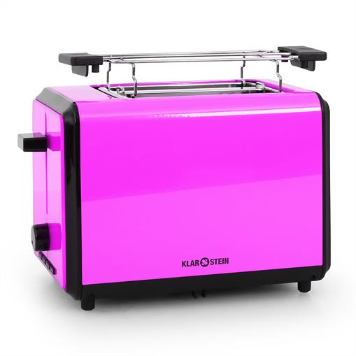 Klarstein Bonjour Grille-pain 2 tranches extra-larges 800W violet