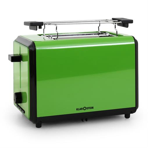 Klarstein Bonjour Grille-pain 2 tranches extra-larges 800W vert