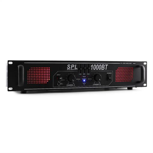 Skytec SPL 1000BT Amplificador Hifi PA bluetooth AUX LED EQ