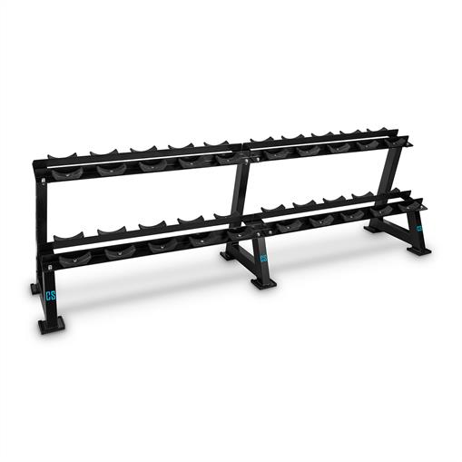 Capital Sports Bellbed Dumbbell Rack Stojak na hantle 20 uchwytów czarny