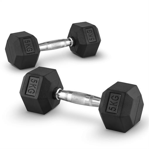 Capital Sports Hexbell 5 Dumbbell para hantli krótkich 5kg