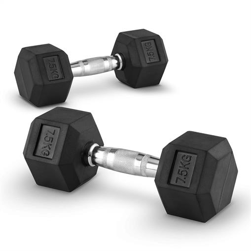 Capital Sports Hexbell 7,5  Dumbbell para hantli krótkich 7,5kg