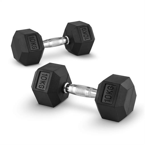Capital Sports Hexbell 10 Dumbbell para hantli krótkich 10kg