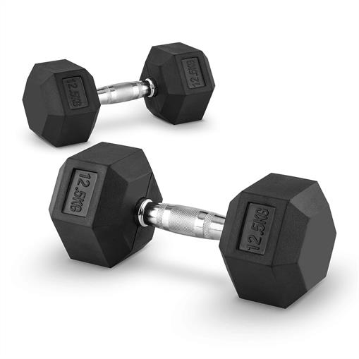 Capital Sports Hexbell 12,5 Dumbbell para hantli krótkich 12,5kg