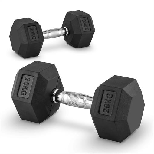 Capital Sports Hexbell 20 Dumbbell hantle krótkie  20kg
