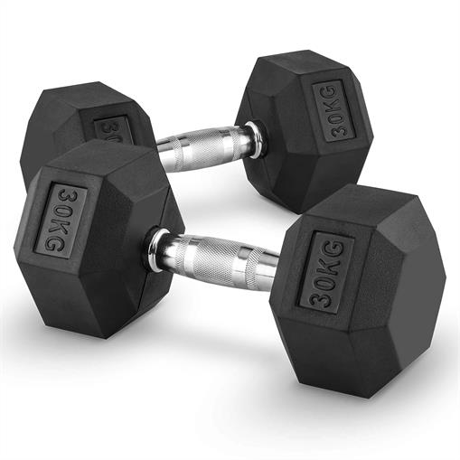 Capital Sports Hexbell 30 Dumbbell hantle krótkie 30 kg