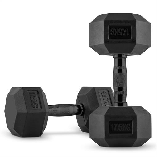 CAPITAL SPORTS Hexbell Hantle krótkie para 2 x 17,5 kg