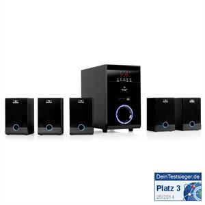 Auna 5.1-Lautsprecher-Set  kabellos MP3-USB-SD Surround