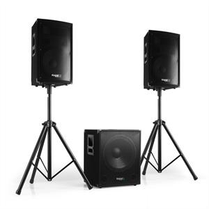 Ibiza 2.1 aktives PA Set 1xSubwoofer 2xSatellit 2xStativ 800W