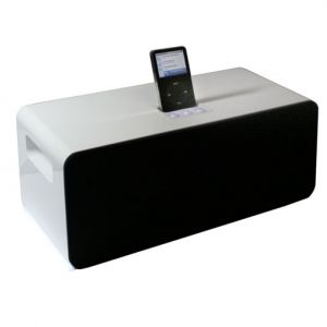 Denver 2.1 Kanal iPod Docking Station Subwoofer Holz Video 2800 W