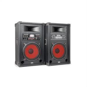 Skytec aktives PA-Boxen-Set  25cm 1000W USB-SD-MP3
