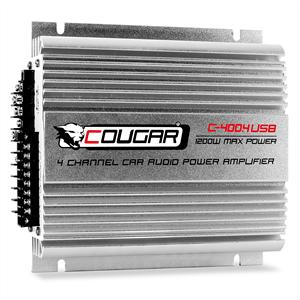 Cougar 4-Kanal-Auto-Endstufe  C400-4 USB-MP3 1200W