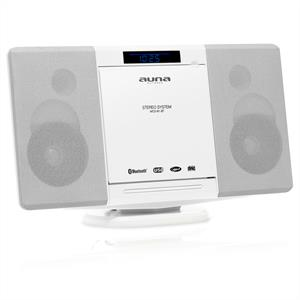 Auna MCD-81-BT Stereoanlage weiß Bluetooth USB UKW AUX CD MP3
