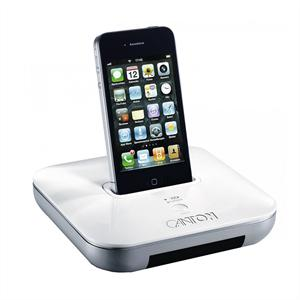 Canton  your_Dock Funk-Dockingstation weiß iPhone iPod AUX 2,4Ghz