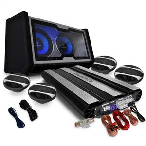"4.1 Car Hifi Set ""Black Line 600"" Verstärker Boxen"