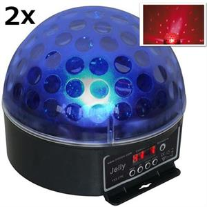 2er Set Beamz Magic Jelly DJ-Ball LED-Lichteffekt RGB DMX