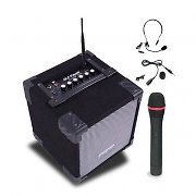 DJ-Tech Cube Set karaoke attivo 3 micro 50W