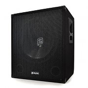 Skytec DJ PA 38cm Aktiv Subwoofer Box 600W mit Stativ Flansch