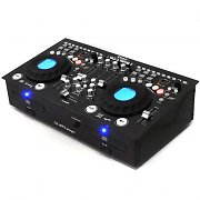 Doppio lettore cd usb sd sd dj pa mixer scratch lcd set