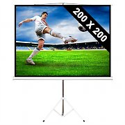 284cm Stativ-Leinwand 200x200cm 1:1