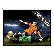 Rollo Leinwand Heimkino Projektor Beamer HDTV 200x150 cm 4:3