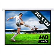 Motor Leinwand Heimkino Projektor Beamer HDTV 300x220cm 4:3