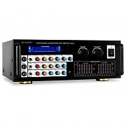 Mikrofon-Verstrker Auna PA-Endstufe Equalizer 2-Zonen