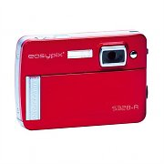 Fotocamera digitale easypix 328 5mp zoom 8x video rossa