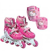 Set hello kitty pattini in linea ginocchiere gomitiere