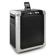 Skytec PA-201 aktive PA-Anlage mit iPod-Dock mobil Akku