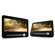 Car-DVD-Set 2x 23cm-Display USB-SD-Eingang Akku
