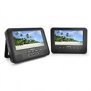 mobiles Auto-DVD-Player Set 2x18cm-Display Akku 12V
