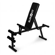 Klarfit panca per bilanciere e sit up ripiegabile