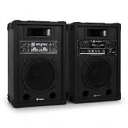 aktives PA-Boxen-Set Skytec 20cm 600W USB-SD-MP3