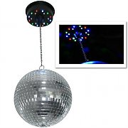 Discoball-Deckenhalteung mit Motor und 18 LEDs
