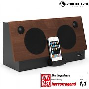 Auna iDock iPod & iPhone docking station legno 600W