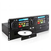 Resident DJ JY-2CD Doppio lettore CD Cue Pitch Rack