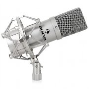 Auna MIC-900B USB Kondensator Mikrofon silber Niere Studio