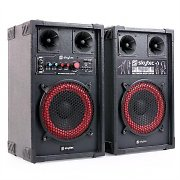Skytec SPB-8 PA Aktiv Passiv Boxen Set 400W 20cm Woofer