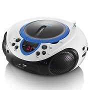 Lenco SCD-38BL Boombox portatile USB Radio FM MP3 CD