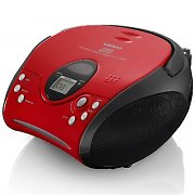 Lenco SCD-24 Boombox Radio FM CD-Player rosso