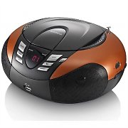 Lenco SCD-37 Boombox CD-Player MP3 USB AUX UKW-Radio orange