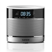 Lenco CR-3306BT Radiowecker mit Bluetooth AUX USB 2x Weckalarm