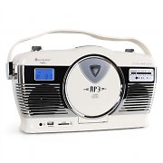 Soundmaster RCD1300 boombox beige USB SD MP3 CD sveglia